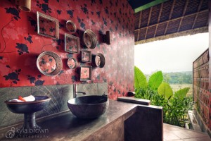 Washroom with view outside