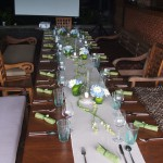 Table ready for wedding guests