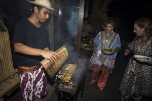 Bali Asli guests can't wait to eat!