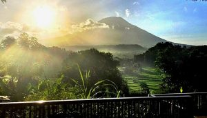 Mt Agung from Balcony